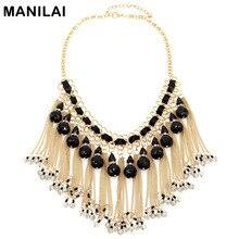 MANILAI Mujeres Cadena de Diseño Perlas Cristalinas de Múltiples Capas Collares Declaración de Moda Collar de Gargantilla Collares y Colgantes Joyería de Maxi