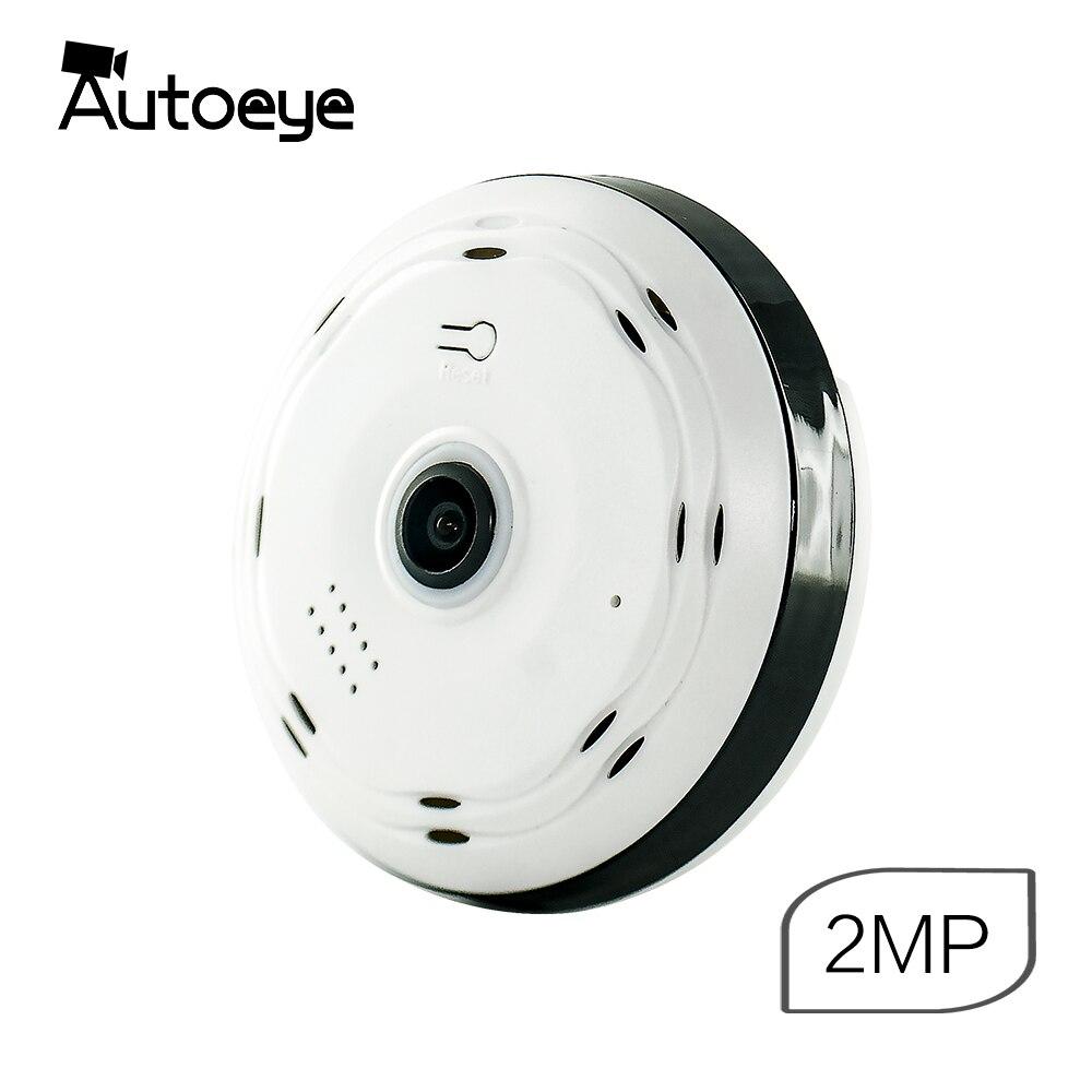 Autoeye 3D Fisheye IP Cámara 1080 p 960 P 2MP 1.3MP 360 grados Home seguridad WiFi VR cámara panorámica bebé monitor CCTV Cámara