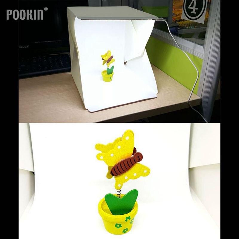 20/30/40cm Mini Folding Photography Studio LED Light Softbox Portable Desktop Lamp Box  For  Camera Light Box Accessories