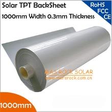 5 м/лот Солнечный задний лист, 1000 мм ширина 0,3 мм толщина Солнечный TPT задний лист для солнечной панели Ensapsulation, TUV, CE