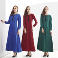 La moda de Vestir De Manga Larga Musulmán Árabe Abaya Prenda Abaya Turca Abayas Mujeres Suelta Vestido de Empalme Elegantes Vestidos Largos