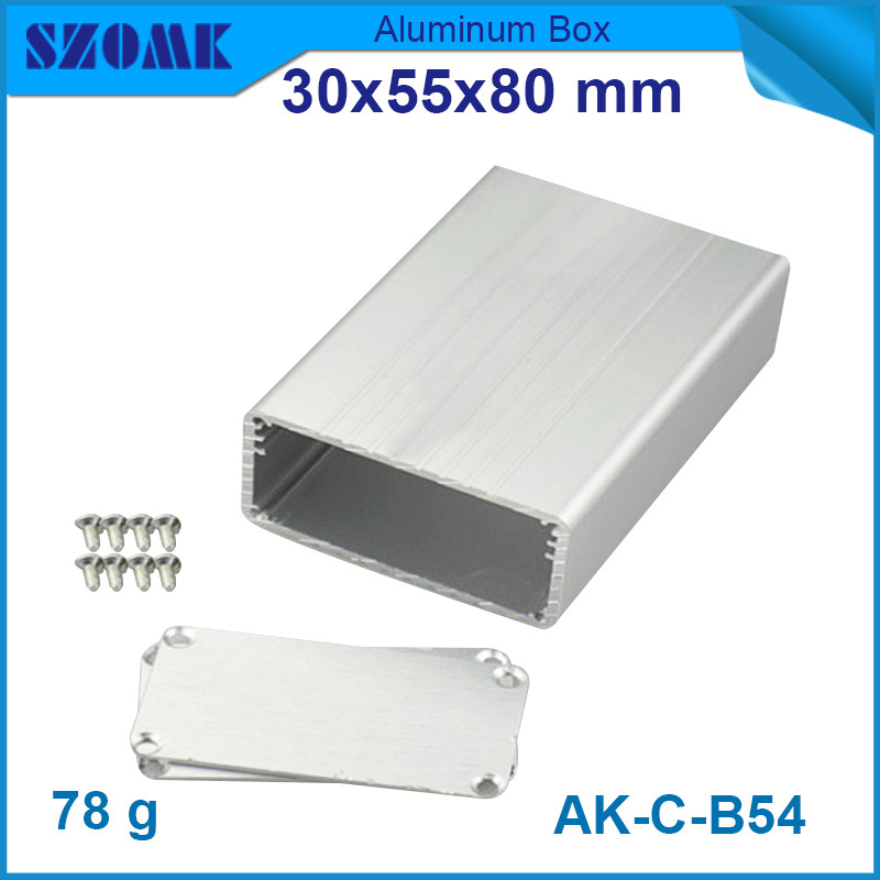 1 piece free shipping aluminum extrusion housing cabinet for controller junction case 30 55 80mm