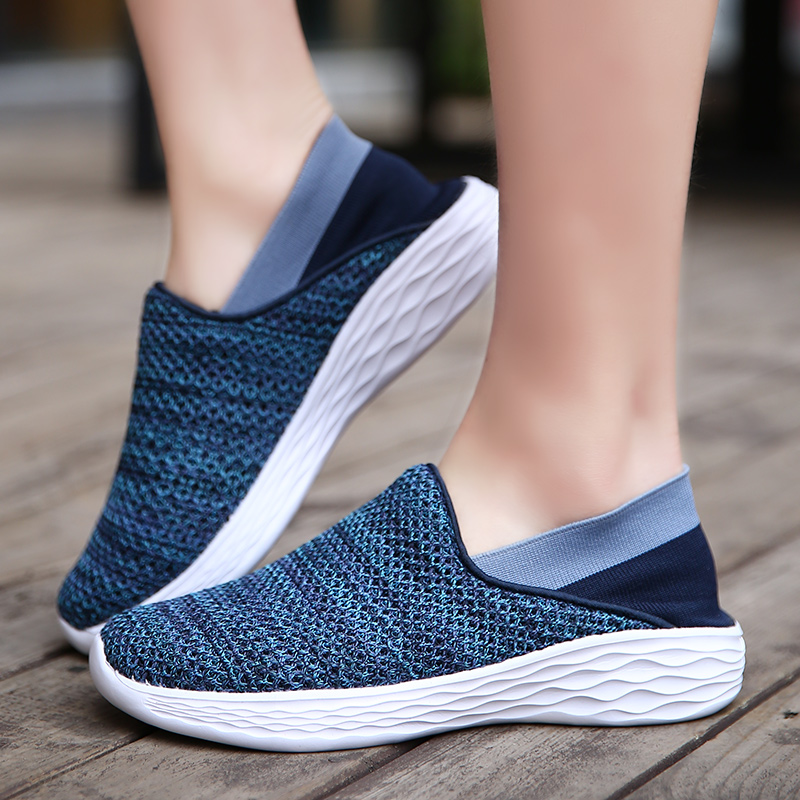 Weweya New Socks Shoes Men Casual Driving Shoes Slip-on Loafers Male Breathable Fashion Summer Flats Couple Sneakers for Walking