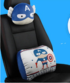 Cute cartoon Car Pillow Set Car Headrest Neck Support Pillow Car Lumbar Back Support Pillow Space Memory Cotton Car Cushion
