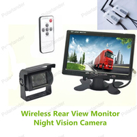 bus truck camera rearviwe with wireless 7 Inch TFT LCD Color Display Screen bus truck Rear View Monitor