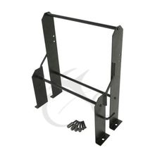 Black Tour Pak Pack Accessory Motor Storage Rack For Harley Touring Wall Mount