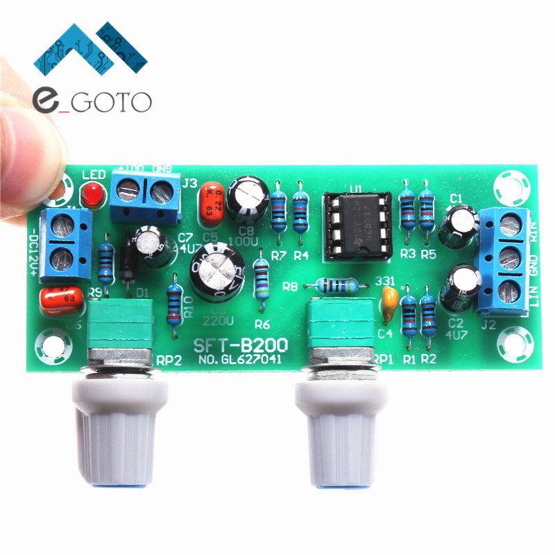 22Hz-300Hz Preamp Board Single Power Subwoofer Low Pass Filter Plate 10-24V 22Hz-300Hz Audio
