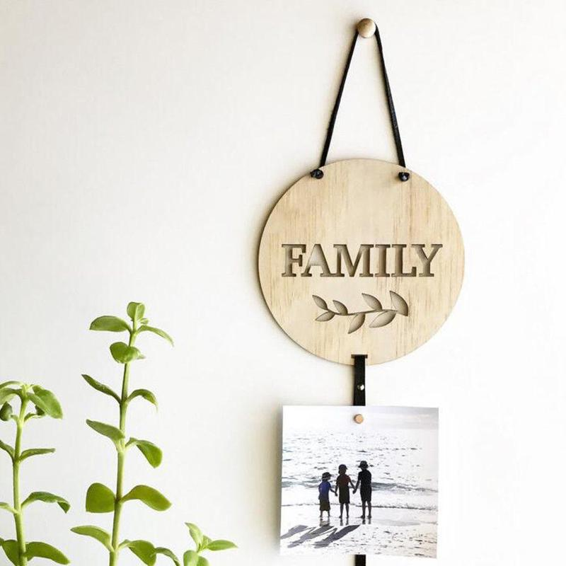 Nordic Style Wooden Photos Storage Hanger Baby Hair Clips Wall Hanging Decoration Ornament My Pretty Clips/ Family VQW5682