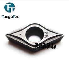 Taegutec 10 шт. DCMT070202-FA CT3000 CNC DCMT070202 DCMT 070202 токарный станок резак карбидная вставка для токарного станка режущие инструменты