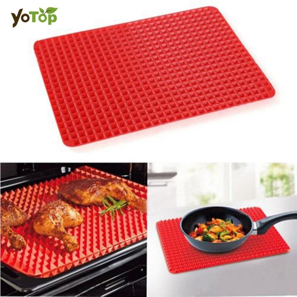 YOTOP 2 מידה אדום סיליקון אפיה מחצלות - מטבח, פינת אוכל ובר