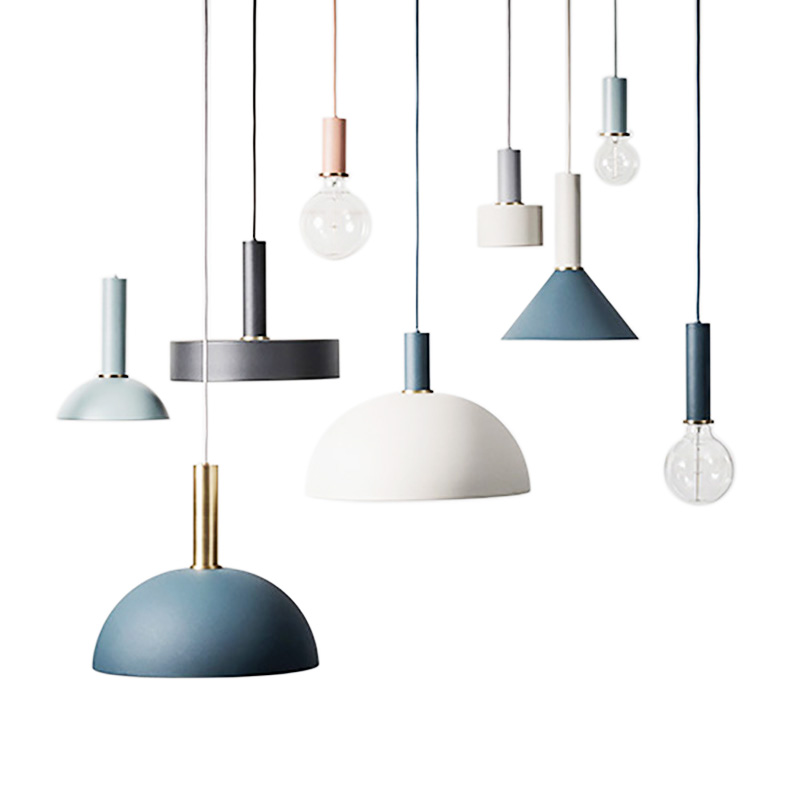 Modern Metal Macarons Pendant Light lamp clothing store restaurant bar coffee bedroom kitchen hanging Pendant lamp lighting microcosm marine steam engine model power set