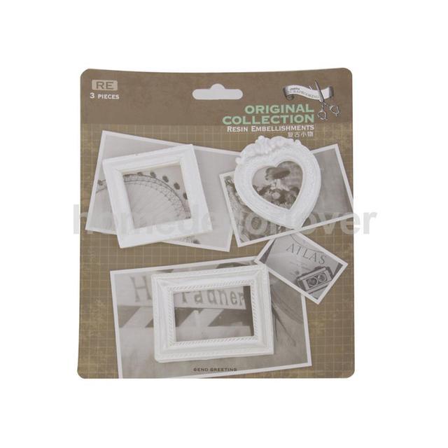 Prima Antique White Resin Frame Embellishments Scrapbooking DIY ...