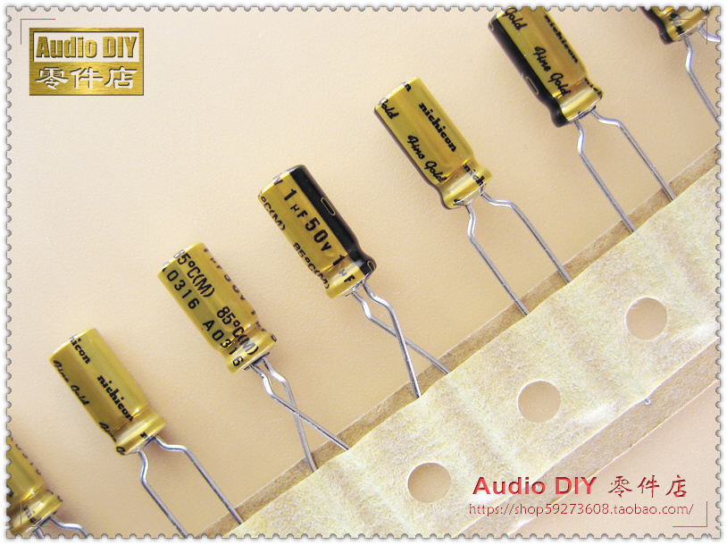 2018 Hot Sale 30PCS/50PCS Nichicon (fine Gold) FG Series 1uF/50V Audio Electrolytic Capacitors Free Shipping