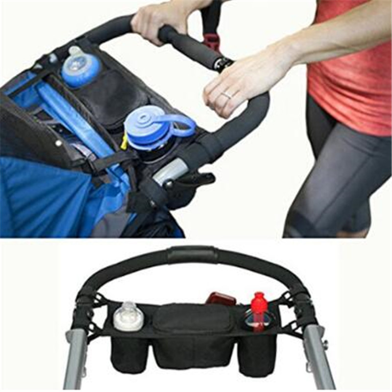Baby Stroller Bag Organizer Carriage Hanging Storage Bags Pram Pushchair Cup Buggy Bottle Holder Drink Food Pouch Hands Free