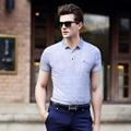 Новый дизайн мужских лето мода полосы хлопок короткий рукав рубашки поло