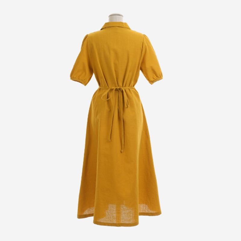 Retro Lady Style a Line Long Dress Puff Sleeve Slim Waist Long Dress Summer Elegant Robe Longue Vestido Largo Vestiti Lunga 14