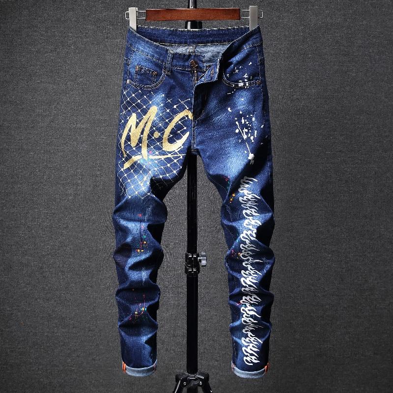 Men   Jeans   Pants Pantacourt Homme Men'S Classic Street Wear Ripped Pantalon Hombre   Jean   Famous Brand Super Skinny Pantaloni Uomo