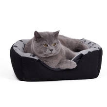 Warm Soft Cat Beds with Paw Typos