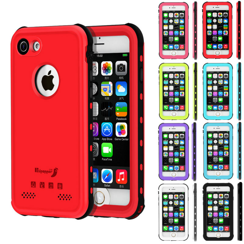 on sale d6d57 53fea US $8.99 |Red Waterproof Case For iPhone 7 8 Plus Ultra thin Dust Proof  Snow Proof Shock Proof-in Fitted Cases from Cellphones & Telecommunications  on ...