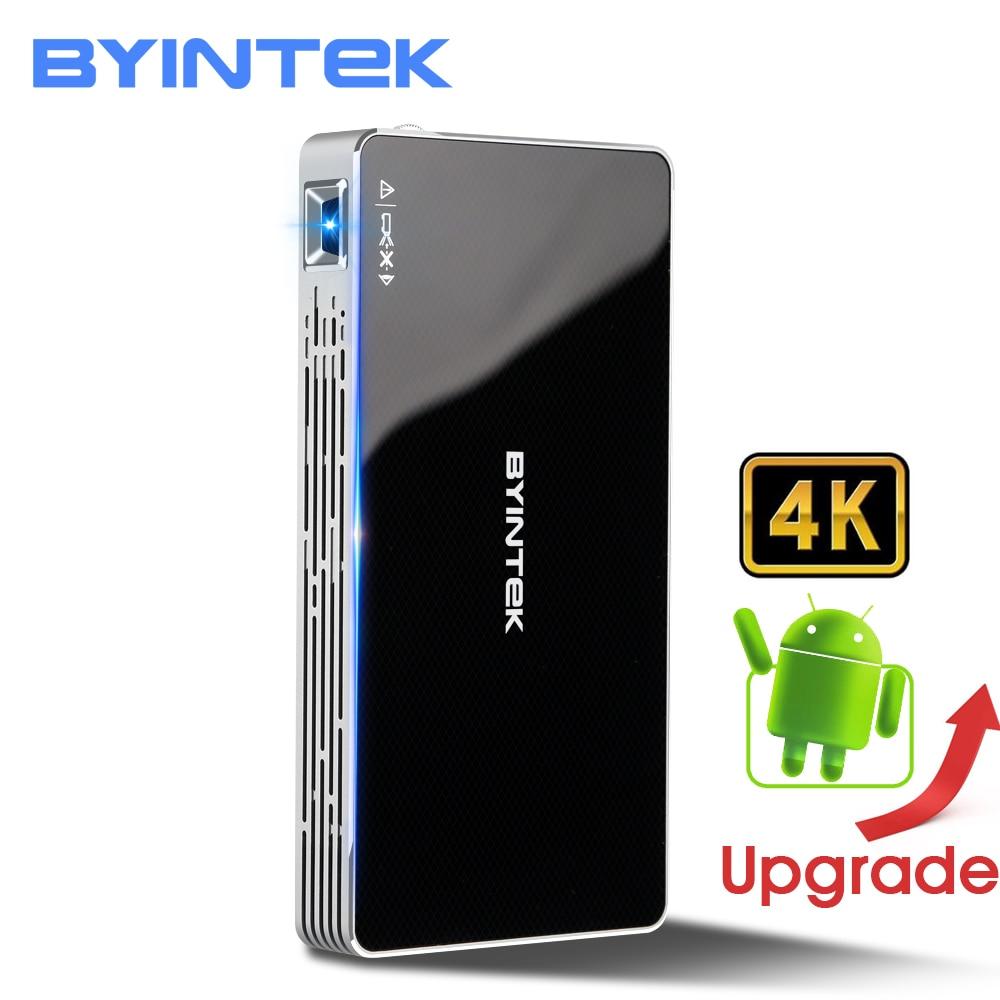 BYINTEK НЛО P10 Портативный умный дом Театр карман Android 7.1.2 OS Wifi мини светодиодный hd-проектор для полного HD1080P MAX 4 K HDMI