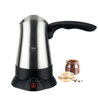 270ML Portable Turkey Coffee Maker Electrical Stainless Steel Coffee Pot Cafeteira Expresso Food Grade 360 Degree