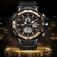 Fashion Brand Men Sports Watches Dual Display Analog Digital LED Electronic Swimming Waterproof G S-Shock Quartz Wristwatches