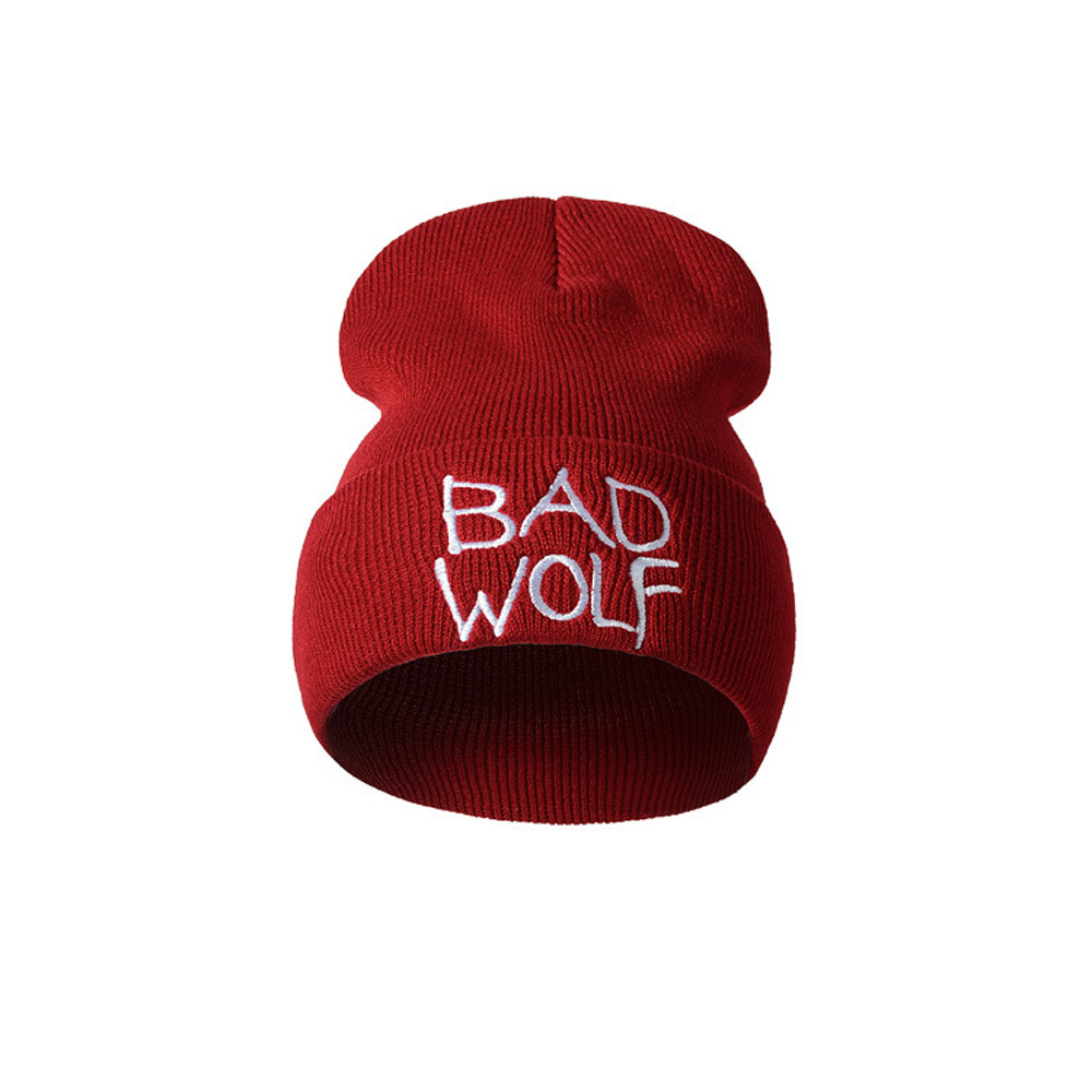 Knitted Soft Hat Hot Sale Caps Unisex Letter Embroidery Fashion Keep Warm Wool Knitted Earmuffs Hats Men Women Winter Casual rwby letter hot sale wool beanie female winter hat men