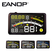 EANOP 5,5 Plus Auto HUD Head up Display Auto Windschutzscheibe Projektor OBD2 Geschwindigkeit Überwachung Alarm Power-Swith Kabel