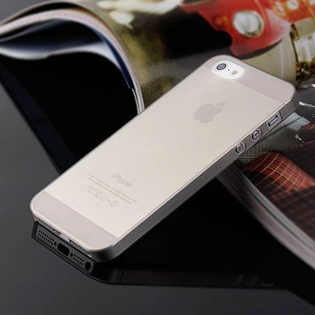 0.3mm Ultra Thin Matte Mobile Phone Bag Case for iPhone 5 5S SE 2020 6 6S 7 8 Plus 4 4S X XS Translucent Clear Capa Funda Coque 3