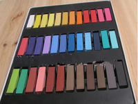 36 Colors Non Toxic Temporary Hair Chalk Dye Soft Pastels Salon Kit Show Party