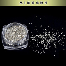 Small + Large Silver 3D Decoration Glass Fragment Glitter Sequins Metal Rhinestone Polish Manicure Nail Art Tips DIY Accessories