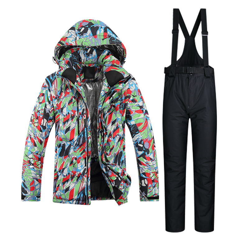 Prix pour Hommes Ski Veste Coupe-Vent Imperméable Neige Épaissir Thermique Snowboard Costume Respirant Veste Chaleur Pantalon de Ski En Plein Air Costume
