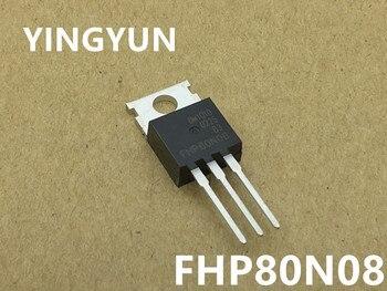 10PCS/Lot  FHP80N08  80N08 TO-220 FET (MOS tube) 80A 80V new original 10pcs lot mur2060ctr 20a 600v to 220 new original