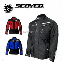 Custom Fit SCOYCO JK27 Moto Jackets winter for men Motorcycle,red black blue 500D nylon jacket riding oxford clothing motorbike
