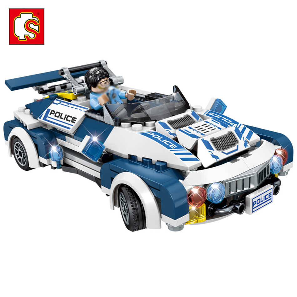Sembo Toys Police series Building Blocks toys Compatible legos City Carry Weapon Car Figures Enlighten Bricks For Children Toys hot sembo block compatible lepin architecture city building blocks led light bricks apple flagship store toys for children gift