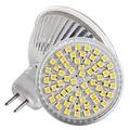 100pcs/lot 12V MR16 60leds SMD 3528 5W LED Home Office Spot Down Light Bulb Lamp 480LM White Ultra Bright Free Shipping