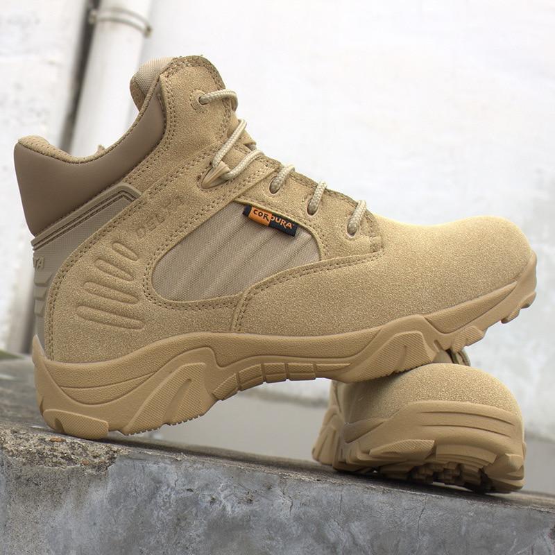 2017 армии Для мужчин Commando армейские пустыня открытый Пеший Туризм Сапоги и ботинки для девочек посадка Тактический Военная Униформа Обувь