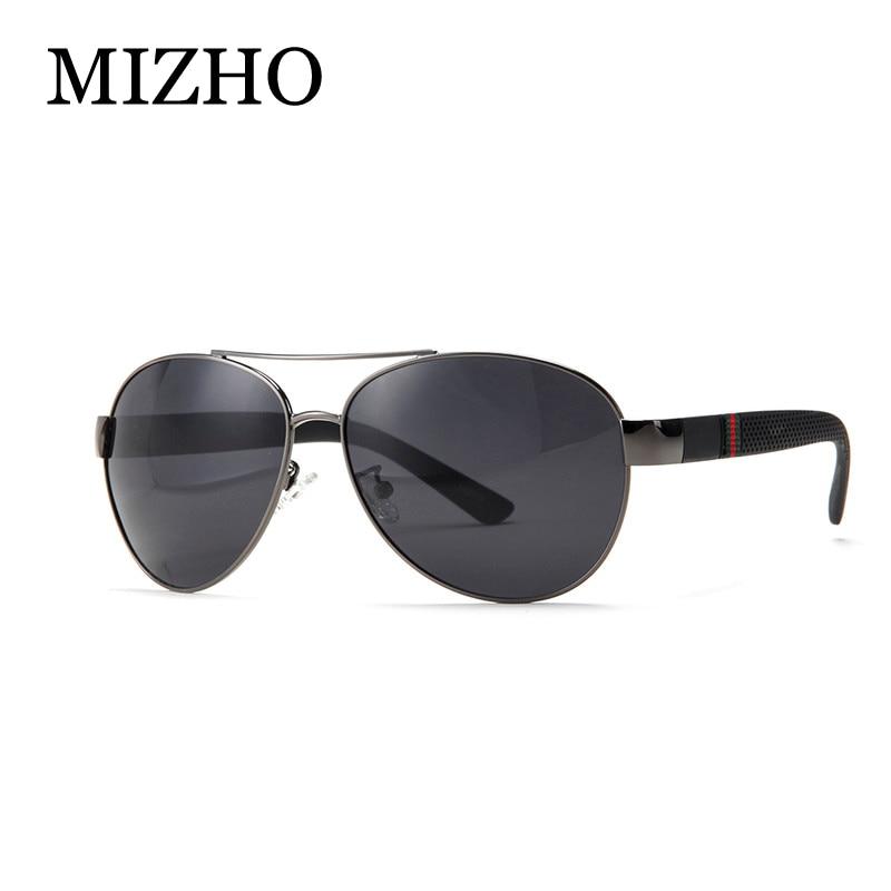 d3fc6b1eb MIZHO Brand High Quality Original Polaroid Sunglasses Men 26g Light  Polyamides Leg Alloy Pilots Classic Glasses Driver Man Green-in Sunglasses  from Apparel ...