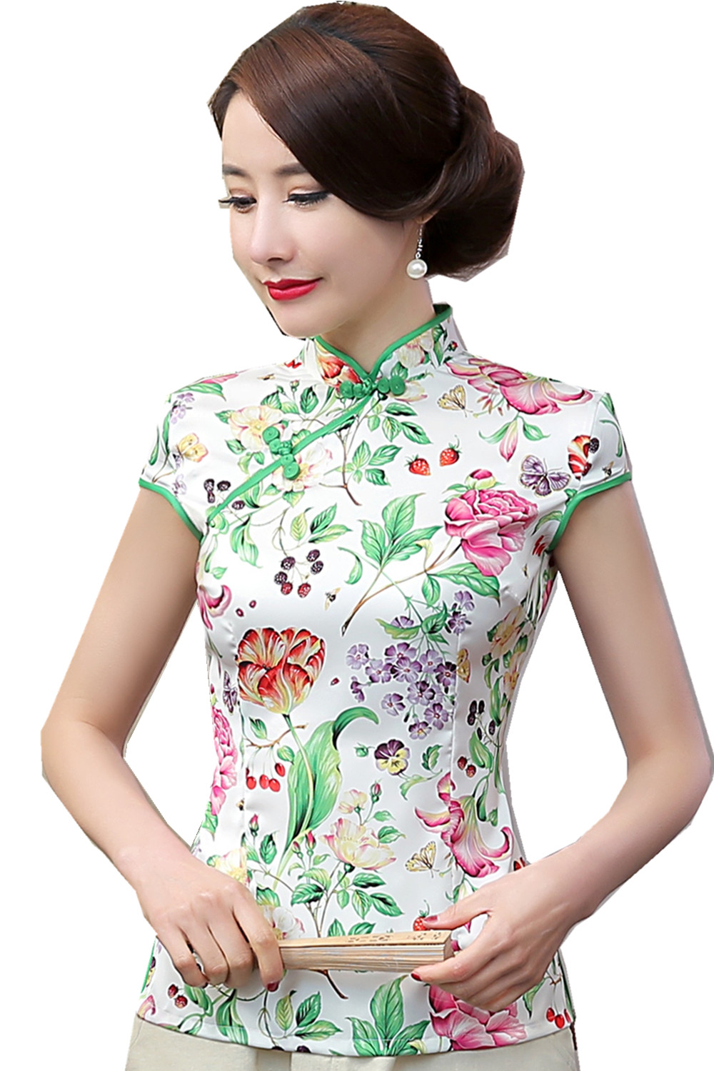 Popular Chinese Silk Tops-Buy Cheap Chinese Silk Tops lots from ...