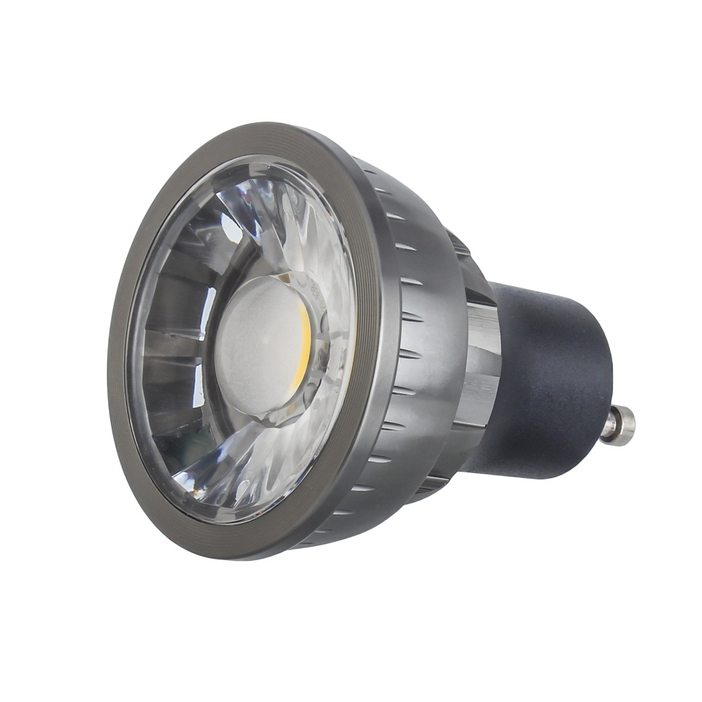 Douche led downlight ip65 240v mains GU10 LED chrome brosse chrome blanc
