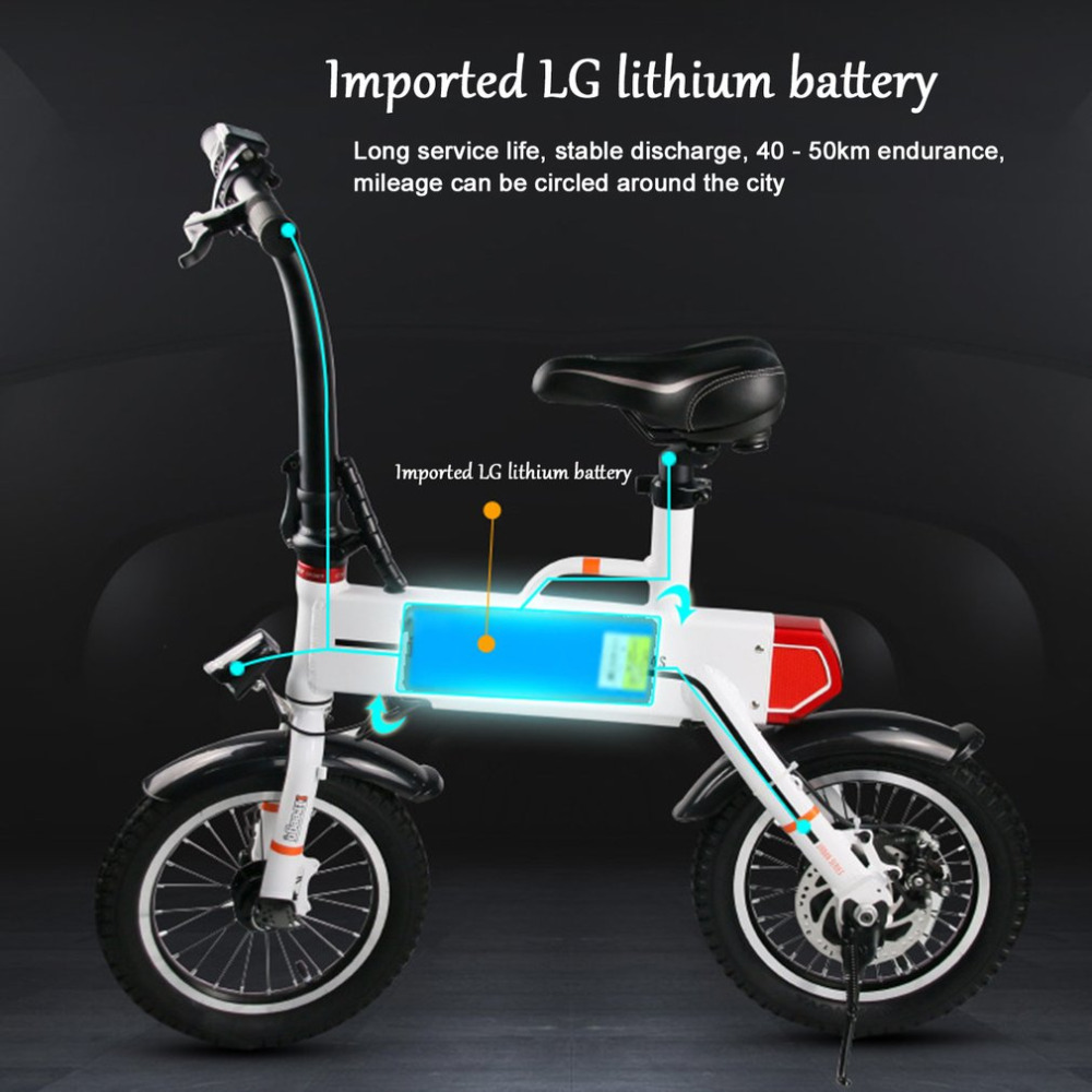 Two Wheel Electric Lithium Battery Scooter EM S Motorcycle Bike Self Balance