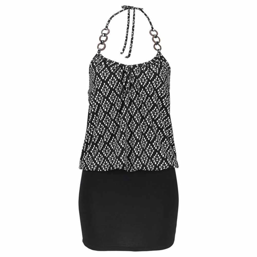 Vestiti donna kleider damen офисное платье Vestido модное женское повседневное без рукавов Ретро принт пляжное мини-платье пляжное платье 2019