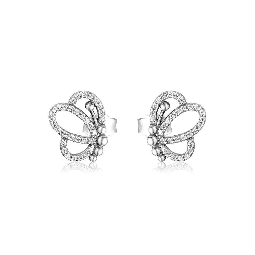 CKK Earrings Butterfly Outlines Stud Earring for Women Sterling Silver 925 Jewelry Pendientes Earings Earing Brincos AretesCKK Earrings Butterfly Outlines Stud Earring for Women Sterling Silver 925 Jewelry Pendientes Earings Earing Brincos Aretes