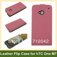 Simple Design PU Leather Flip Case For HTC ONE M7 Wholesale Free Shipping