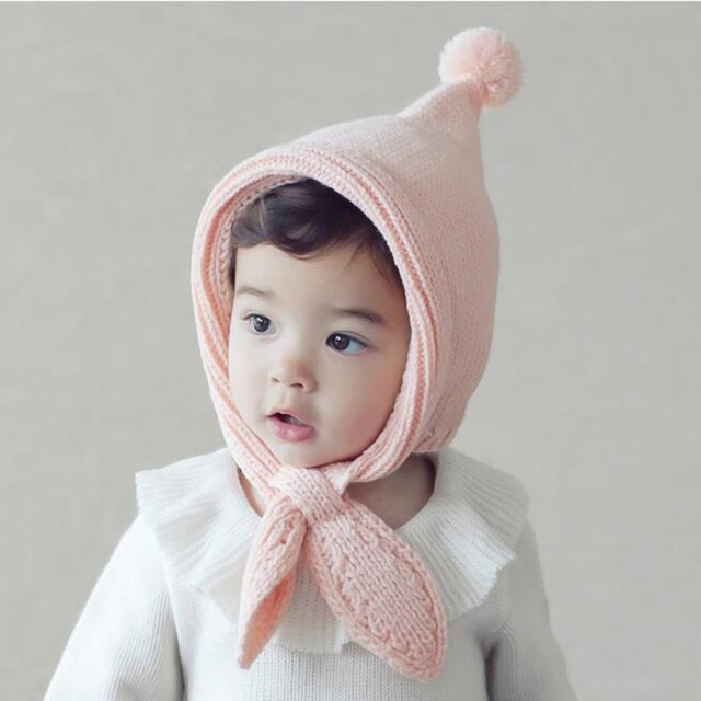 3f841bdd24d Winter Warm Cute Elf Design Baby Cap with Ear Protection Wool Knitting Hat  Earflap Baby Boys Girls Knitted Hat Beanie Cap 2018