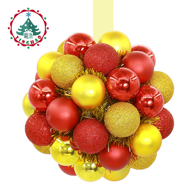 inhoo home decor christmas ball festive opening flower ball decor creative hydrangea store decorations hotel wedding - Christmas Ball Decorations