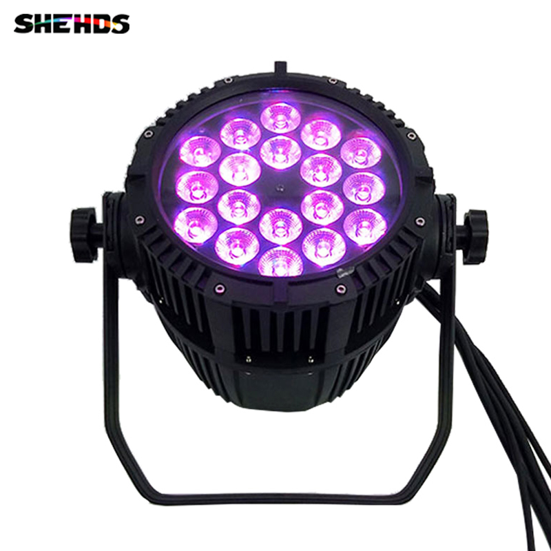 Waterproof LED Par 18x18W 6in1 RGBWA+UV For Dj Disco Effect Lights Outdoor Wedding ,SHEHDS Stage Lighting free shipping dj par cans rgbwa uv 6in1 18x18w led par light aluminum alloy shell par led disco dmx stage effect lights