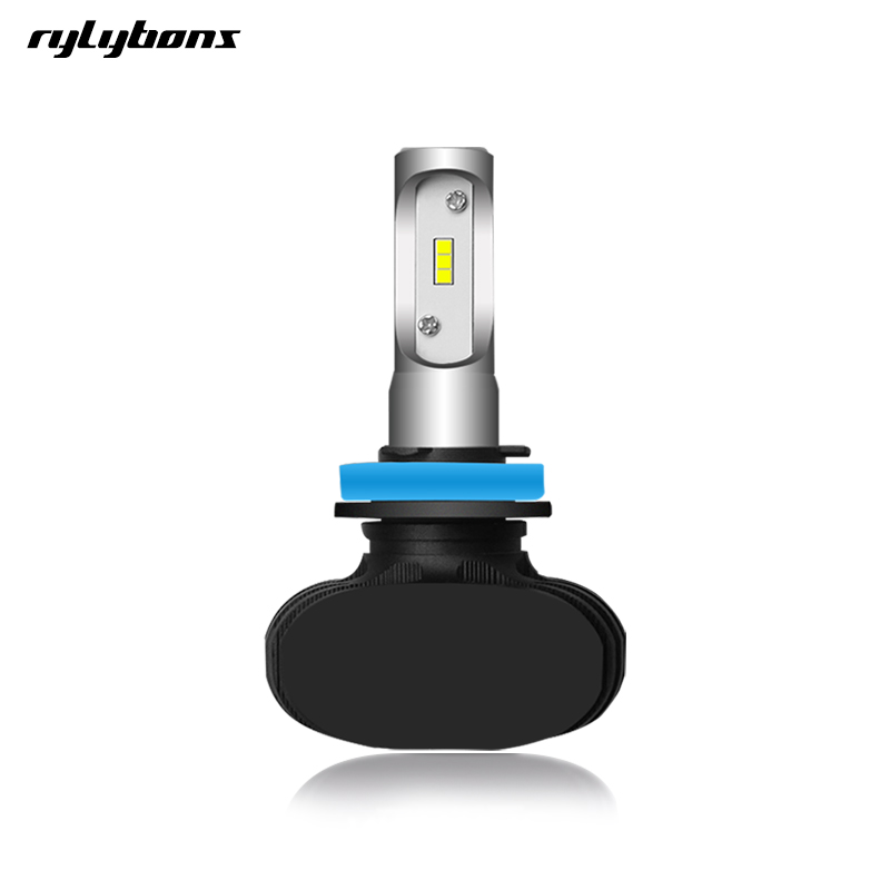 rylybons 1Pcs Auto Head Light Car LED Fog Lights H4 H7 H11 LED Headlight Car Led