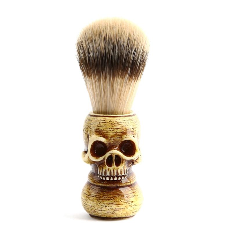 2019 Beard Brush Skull Head Badger Hair Brush Man Shaving Brush Makeup Brush