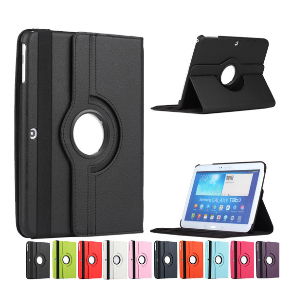 360 Rotation Case For Samsung Galaxy TAB 2 10.1 P5100/P5110/P7500/P7510 PU Leather Stand Tablet Cover Pouch Protective Skin luxury flip stand case for samsung galaxy tab 3 10 1 p5200 p5210 p5220 tablet 10 1 inch pu leather protective cover for tab3